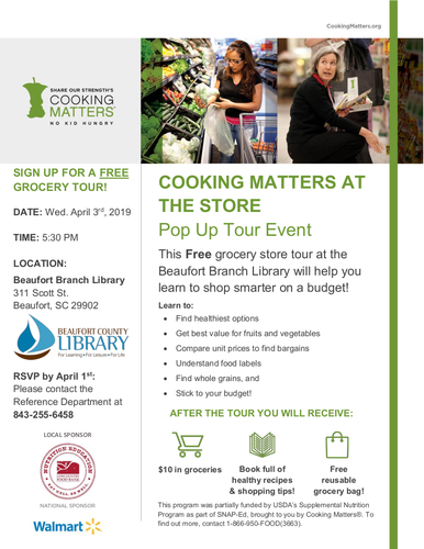 Cooking Matters at the Store: Grocery Tour at the Library - 303